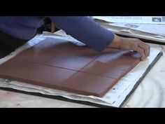 Pottery Video: Angelica Pozo - Cutting Tiles with 9-Tile Template System - the hanging mechanism is a good idea!