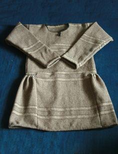 "It's modern copy of Guddal tunic (kjortel). viking's tunic from 10th century.  It has been made by ""Skupaya Khel'"". Homespun from wool of three colours. Vikind dress, viking style. https://www.facebook.com/norsviking"