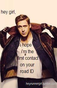 Ryan Gosling is in #Austin, and here he is encouraging running! Woohoo! #spooky5k