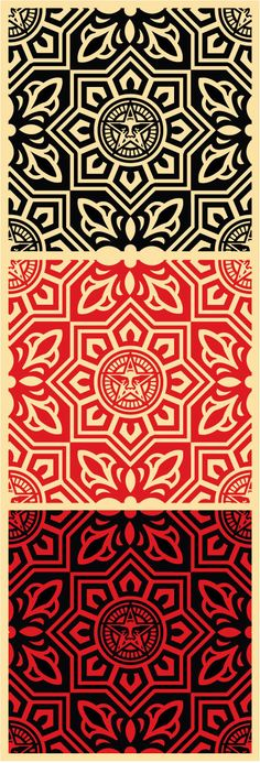 Shepard Fairey pattern designs