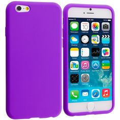 Accessory Planet(TM) Purple Silicone Soft Gel Rubber Skin Case Cover Accessory for Apple iPhone 6 (4.7)
