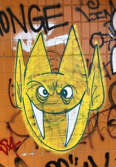 Bilbao, graffiti in the old San Roque restaurant, now closed. In Artxanda.