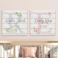 Nursery Name, Nursery Signs, Girl Nursery, Princess Nursery, Room Signs, Nursery Room, Nursery Rhymes, Personalised Canvas, Personalized Baby Gifts