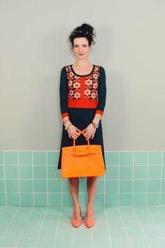 """Knielange Kleider - Kleid Almost Famous""""LOTTE"""" Blume petrol grün Pool - ein Designerstück von Bonnie-and-Buttermilk bei DaWanda"""