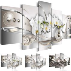 Canvas Print Modern Picture Wall Art Decor Home Abstract Flower Orchid Painting