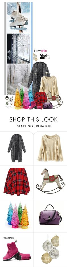 """How can I build a snowman When I haven't any snow"" by fashionqueen76 ❤ liked on Polyvore featuring Sheinside and newchic"