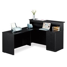 View our Reception L-Desk - x and shop our wide selection of furniture to customize your office space. All products backed by our lifetime guarantee! Navy Furniture, Business Furniture, Waiting Room Design, L Desk, Desk Styling, Hanging Files, Drawer Hardware, Bedroom Desk, Desktop