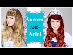 Disney's Ariel AND Aurora Hair tutorial  how to easily get these Disney Princesses magical waves for your Halloween costume!