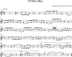 O Sole Mio. Canción Tradicional Italiana.