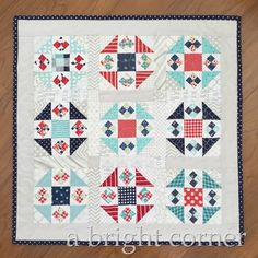 Cute little mini quilt made from the Titch mini quilt pattern