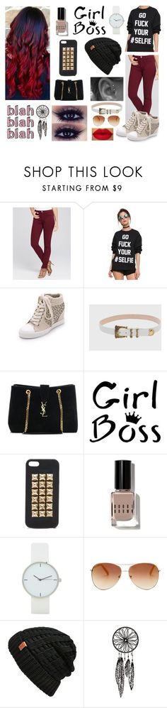 """#9 Girl Boss"" by charlotte-sk ❤ liked on Polyvore featuring Jen 7, DKNY, Balmain, Yves Saint Laurent, Jagger Edge, Bobbi Brown Cosmetics, Tommy Hilfiger and Bickley + MItchell"