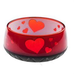 Zeige Details für EHASO Wasser-/Futternapf Rot mit Herzchen