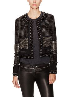 Jayna Wool Embellished Jacket from What to Wear: Valentine's Date on Gilt