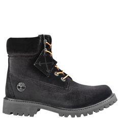 767f4b4461a8 Women s Timberland X Off-White 6-Inch Textile Boots Black Velvet  Timberlands Women