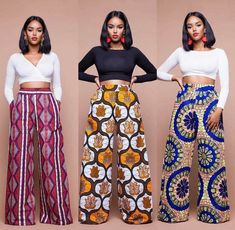 Latest Ankara Trousers For Women Hello,Today we bring to you 'Latest Ankara Trousers For Women'. These Ankara trousers are the latest, trendiest and the best in the Ankara Fashion community. These trousers would suit in any event or African Fashion Ankara, African Inspired Fashion, Latest African Fashion Dresses, African Print Fashion, Africa Fashion, African Style Clothing, African Print Pants, African Print Dresses, African Dress