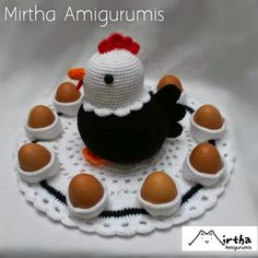 Mirtha Amigurumis: Gallina porta huevos 2 Crochet Chicken, Crochet Lace, Lana, Baby Shoes, Easter, Blog, Anime Kawaii, Cooking, Chicken Eggs