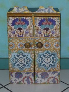 Moroccan inspired Cabinet, Wall Cabinet for jewelry and much more