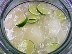 Margarita Punch! Easy visuals by Colorado Lady and get this, you can prepare in advance and freeze ahead. Love that idea! Also, love just pour it in and everyone serves themselves. Feliz Cinco!