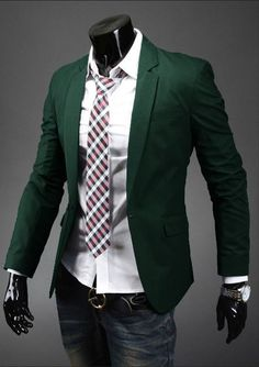 One-button suits are perfect for any formal and casual occasions. Highly recommended for fashion conscious people. unique-outfit.com