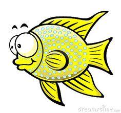 Illustration of cartoon fish on the white background,vector illustration.