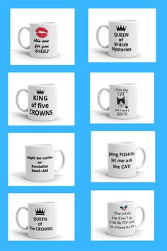 Funny coffee mug, Creative mug, printed mug, gag gift, Whether you're drinking your morning coffee, evening tea, or something in between – this mug's for you! It's sturdy and glossy with a vivid print that'll withstand the microwave and dishwasher. A fun cup to have, a game of five crowns, and the winner is Queen of Five Crowns.QUEEN of Five CROWNS funny printed mug, Sister mug personalized, Coffee mug, ceramic mug, custom mug, coffee mug pottery, gift for her. Funny Coffee Mugs, Coffee Humor, Funny Mugs, Novelty Mugs, Novelty Gifts, Network Marketing Tips, Online Work From Home, Funny Prints, Fun Cup