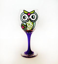 Owl goblet wine glass... Hey Audry! We need to make these and then drink out of them together!! :D Seriously Over Due!!