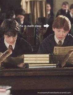 Lol haha funny pics / pictures / Ron / Harry Potter Humor / school problems / math sucks!