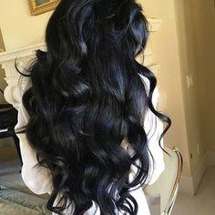 Black Curls, Long Black Hair, Long Curly Hair, Hair Color For Black Hair, Wavy Hair, Curly Hair Styles, Curls Hair, Curly Wigs, Yennefer Of Vengerberg