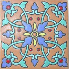 mexican tile designs   TILES AND TILES...Mexican Tiles Cuerda Seca RVL 168