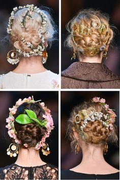 Dolce & Gabbana SpringSummer 2014, Hair Details