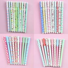 10 Unids/lote Color Pluma Kawaii Canetas escolar Boligrafos Plumas de Gel Pluma Kawaii Papelería Coreano Lindo Envío Gratis(China (Mainland))