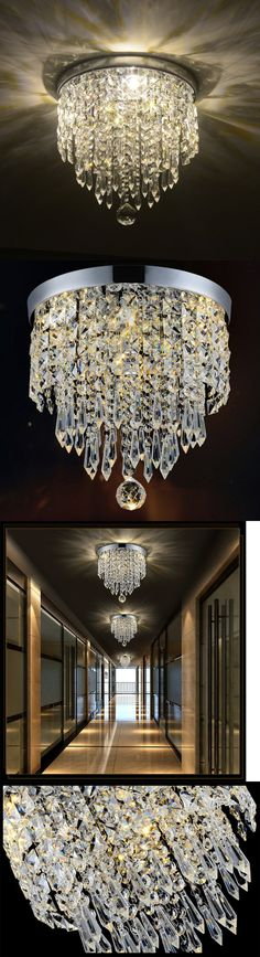Chandeliers and Ceiling Fixtures 117503: Elegant Chandelier Crystal Lamp Light Ceiling Flush Mount Modern Fixture Hile -> BUY IT NOW ONLY: $40.99 on eBay!