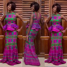 Ankara Skirt and Blouse Style - http://www.dezangozone.com/2016/01/ankara-skirt-and-blouse-style_29.html DeZango Fashion Zone