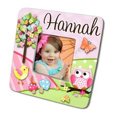 Owls Love Birdies Girls Nature Forest Photo PICTURE FRAME for Kids Bedroom Baby Nursery on Etsy, $15.00