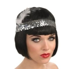 Flappers were a ''new breed'' of young Western women in the who wore short skirts, bobbed their hair, listened to jazz, and flaunted their disdain for what was then considered acceptable behavior. Knitted Hats, Crochet Hats, Flapper Headband, White Feathers, Elastic Headbands, Short Skirts, Beanie, Sequins, Costumes