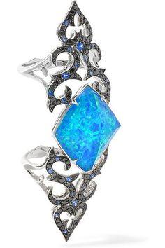 Stephen Webster | Belle Epoque 18-karat white gold multi-stone ring | NET-A-PORTER.COM