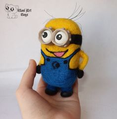 Needle felted Minion. Despicable Me by WoolArtToys
