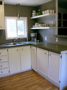 singlewide makeover   ... Home Living Great Canadian Single Wide Mobile Home Interior - MMHL #mobilehomekitchens
