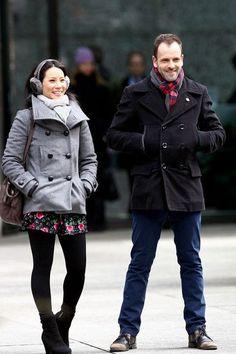 Joan is starting to dress like Sherlock...interesting...