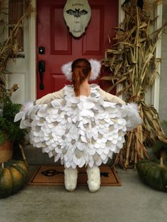 How to make an owl costume google search maske i kostimi snow owl costume wings lots of felt glitter solutioingenieria Images