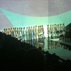 The Emporio Armani SS14 Water Lilies collection #mfw #fashionweek