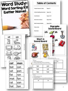 Word Study: Word Sorting Kit (Letter Name) Dyslexia Activities, Dyslexia Strategies, Phonemic Awareness Activities, Reading Activities, Teaching Reading, Classroom Activities, Reading Intervention Strategies, Teacher Resources, Teaching Ideas