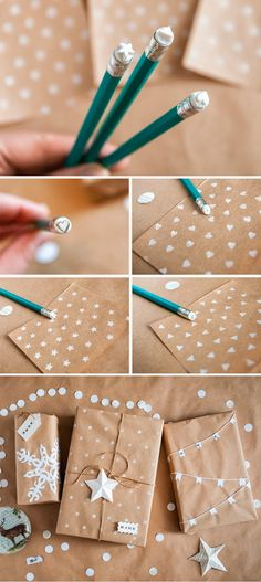 packaging ideas kraft paper and stamp eraser