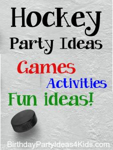 Hockey Party | Birthday Party Ideas for Kids