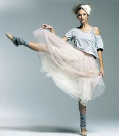 tulle, leg warmers, off the shoulder, pose =)
