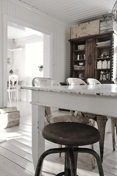 rustic contrast with crisp white