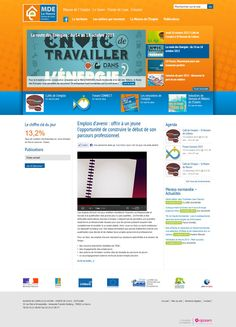 http://www.mdelehavre.fr Conception du site Internet de la Maison de l'Emploi - Le Havre - Pointe de Caux - Estuaire #website #siteweb #webagency #agenceweb #opteam #normandie #lehavre #formation #mde