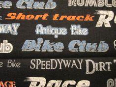 Vintage Motorcycle Words Club Race Biker Speedway by scizzors, $2.99