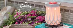 SCENTSY ALABASTER WARMER 2016 New Spring Summer Catalog 2016 Order today at: www.smellarific.com and Follow me on Facebook at: www.facebook.com/smellarific.