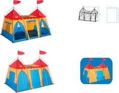 Fantasy Palace play tent - Let children's imaginations run wild when they play with this tent. With the look of 2 castle towers and a connecting passage there is plenty of space for them to play with friends or alone. Closeable doors and windows help to keep the castle private, but don't prevent airflow. The castle also provides a place to store toys and stuffed animals. Outdoors > Camping > Tents Shelters. Weight: 5.00